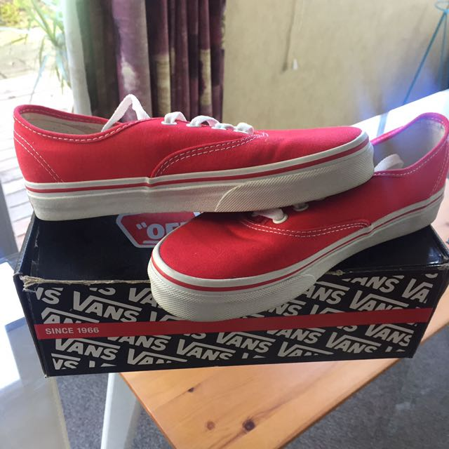 Authentic Red Vans