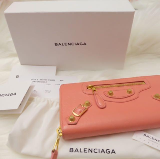 Balenciaga Zip Wallet GHW