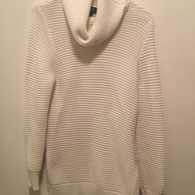 Bardot White Knit Turtleneck