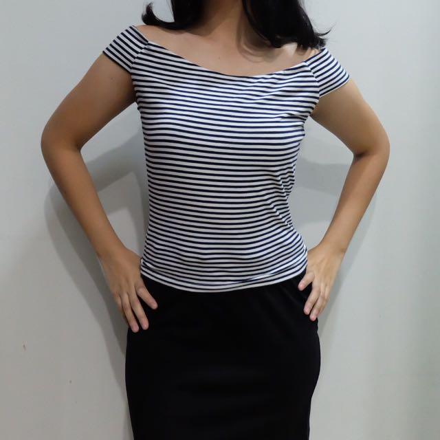 Bershka Stripes Top (NEW)