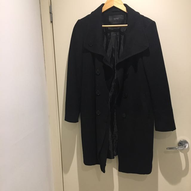 Black ESPRIT Coat Size uk 14, us 10