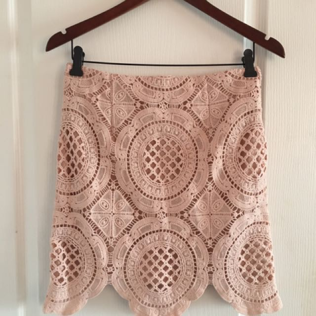 NWT Blush Crochet Skirt
