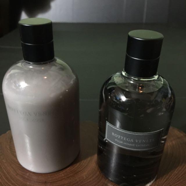 BOTTEGA VENETA ( BV )男香大瓶款90ml 只試噴2次 +鬍後保養200ml豪華版