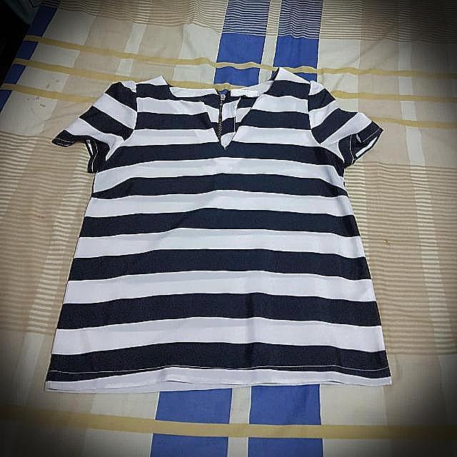 BYSI Striped Blouse
