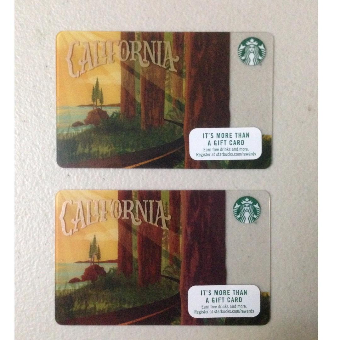 SUPER 50% OFF!!!  California Starbucks Cards