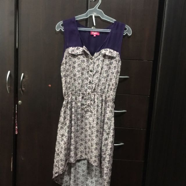 Candie's Purple High to Low Dress