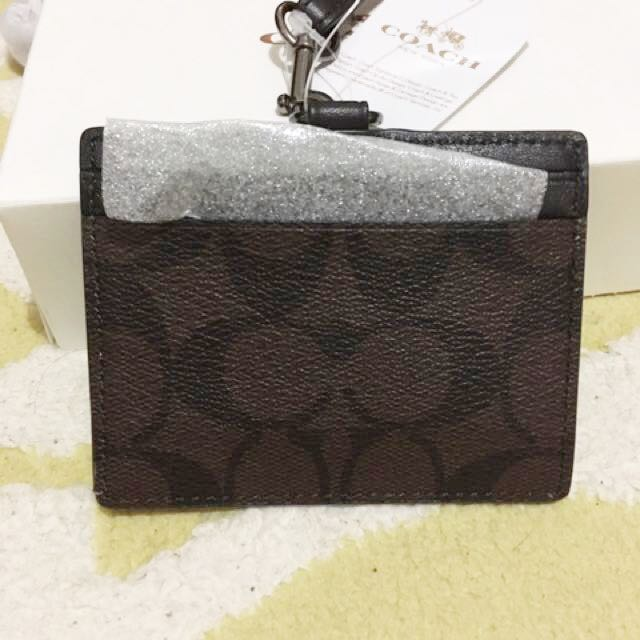 Coach Signature ID card authentic NWT