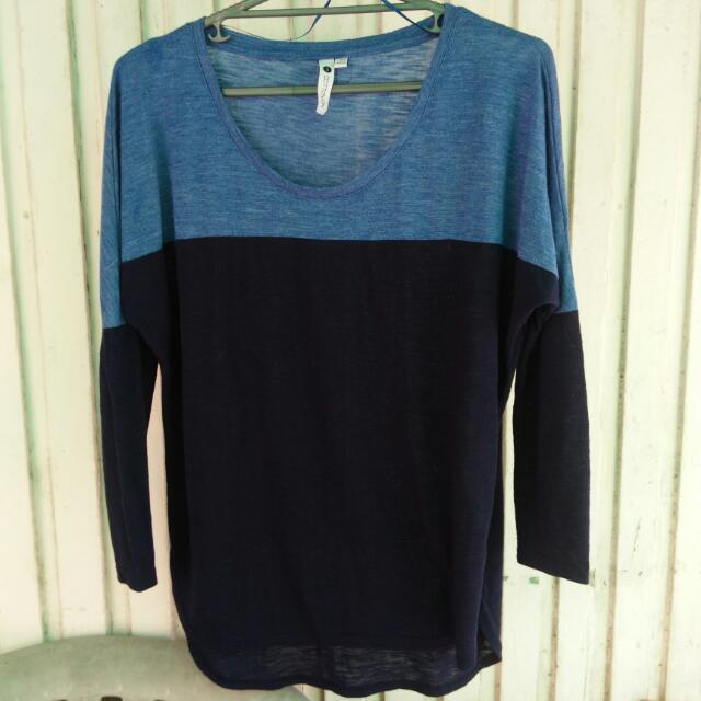 Cotton On: Black And Blue Longsleeves