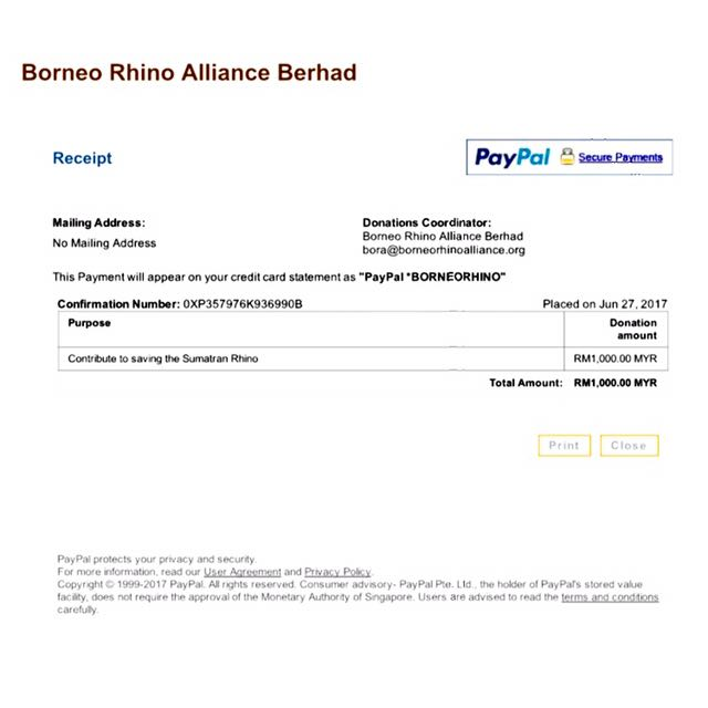 [Donation] Wave 1 of RM1,000 to BORA