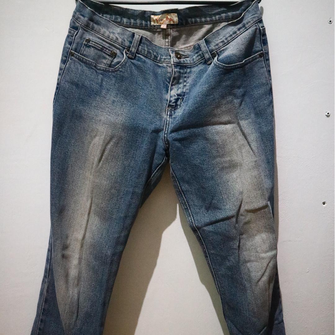 Ecru Straight Jeans