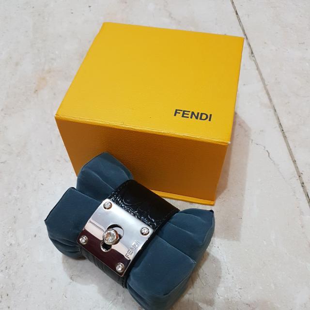 Fendi Gold Mine Lamb Leather Bracelet (GENUINE)