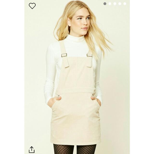 02c6d075604 Forever 21 Corduroy Overall Mini Dress