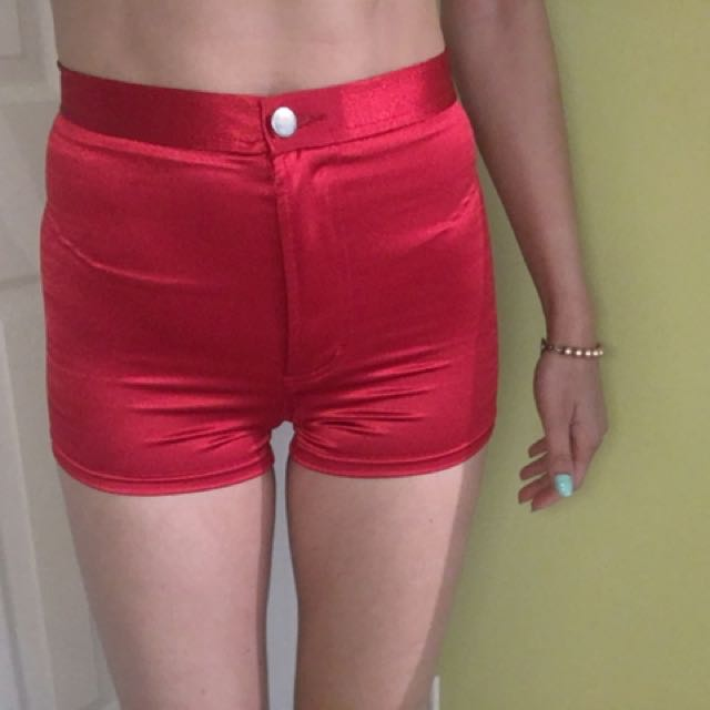 Forever 21 Red High Waisted Shorts Size S