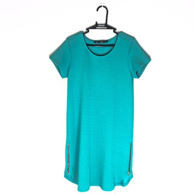 ForMe Teal Textured Shift Dress