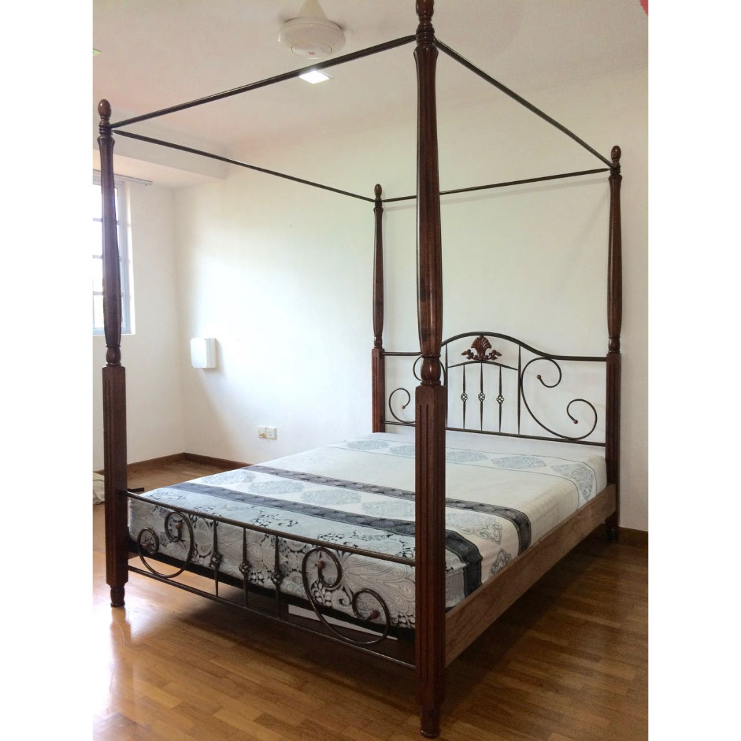 Four Poster Bed Frame Queen Size Used Furniture Beds