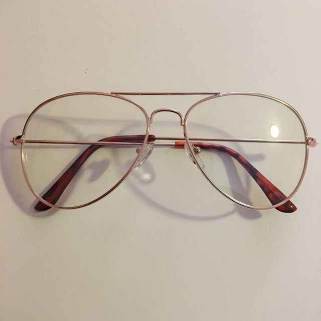 Clear Gold Aviator Frames