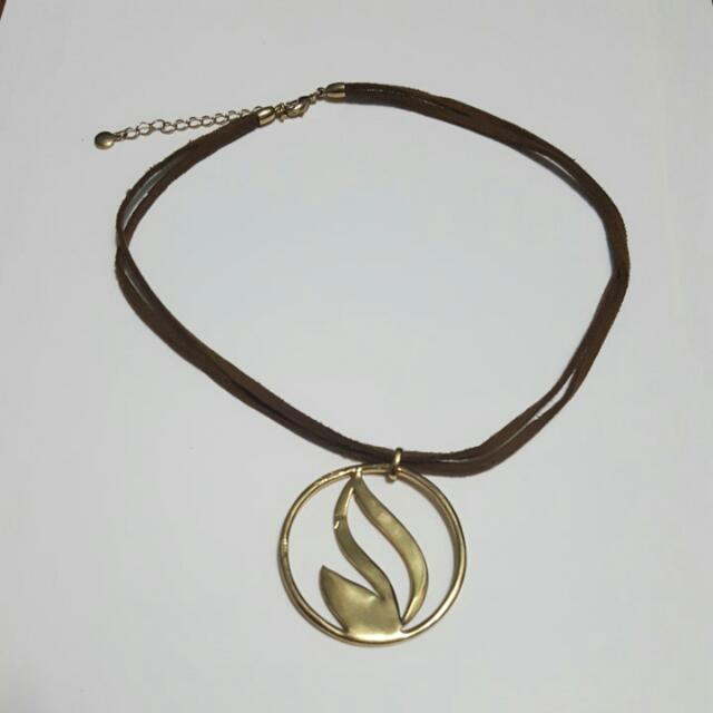 Golden Flame Necklace