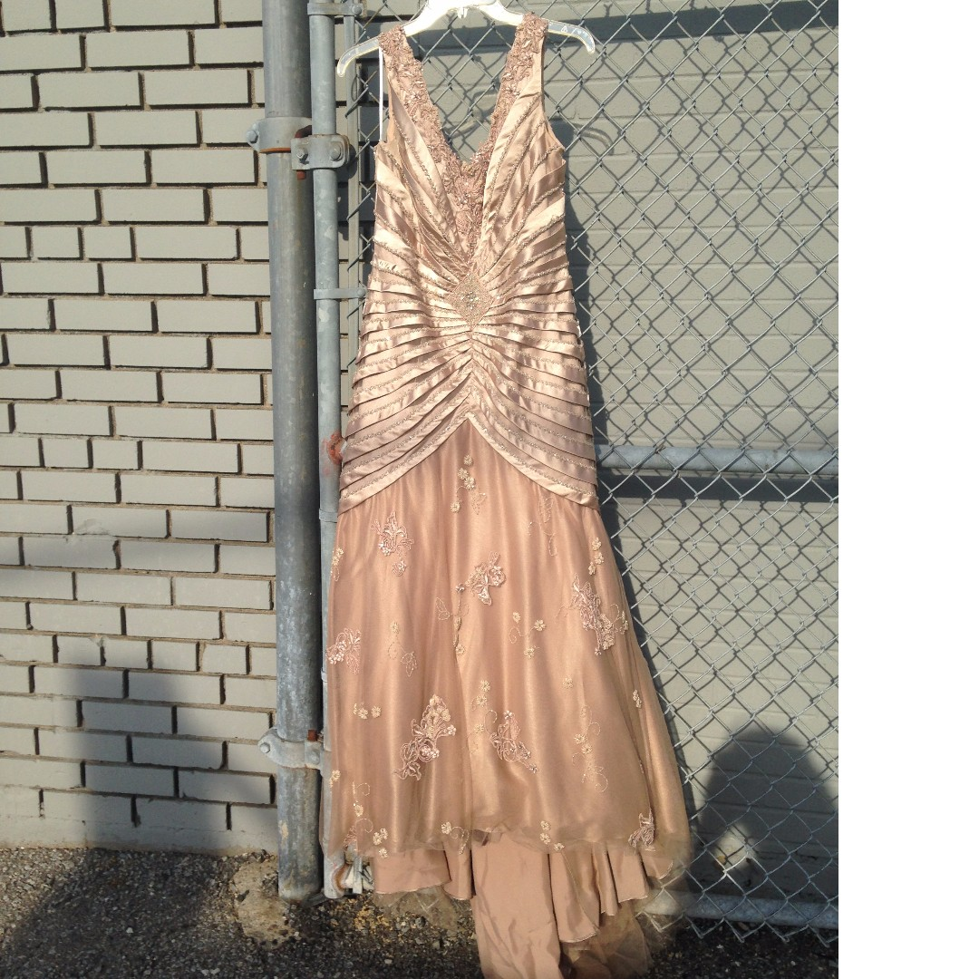 Gorgeous Peach Champagne Evening Gown Worn Once ***Price Drop**