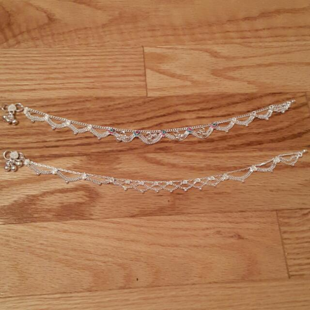Handmade Indian Silver Anklet