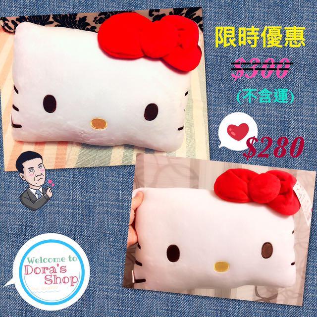Hello kitty枕頭 小方枕 蝴蝶結🎀