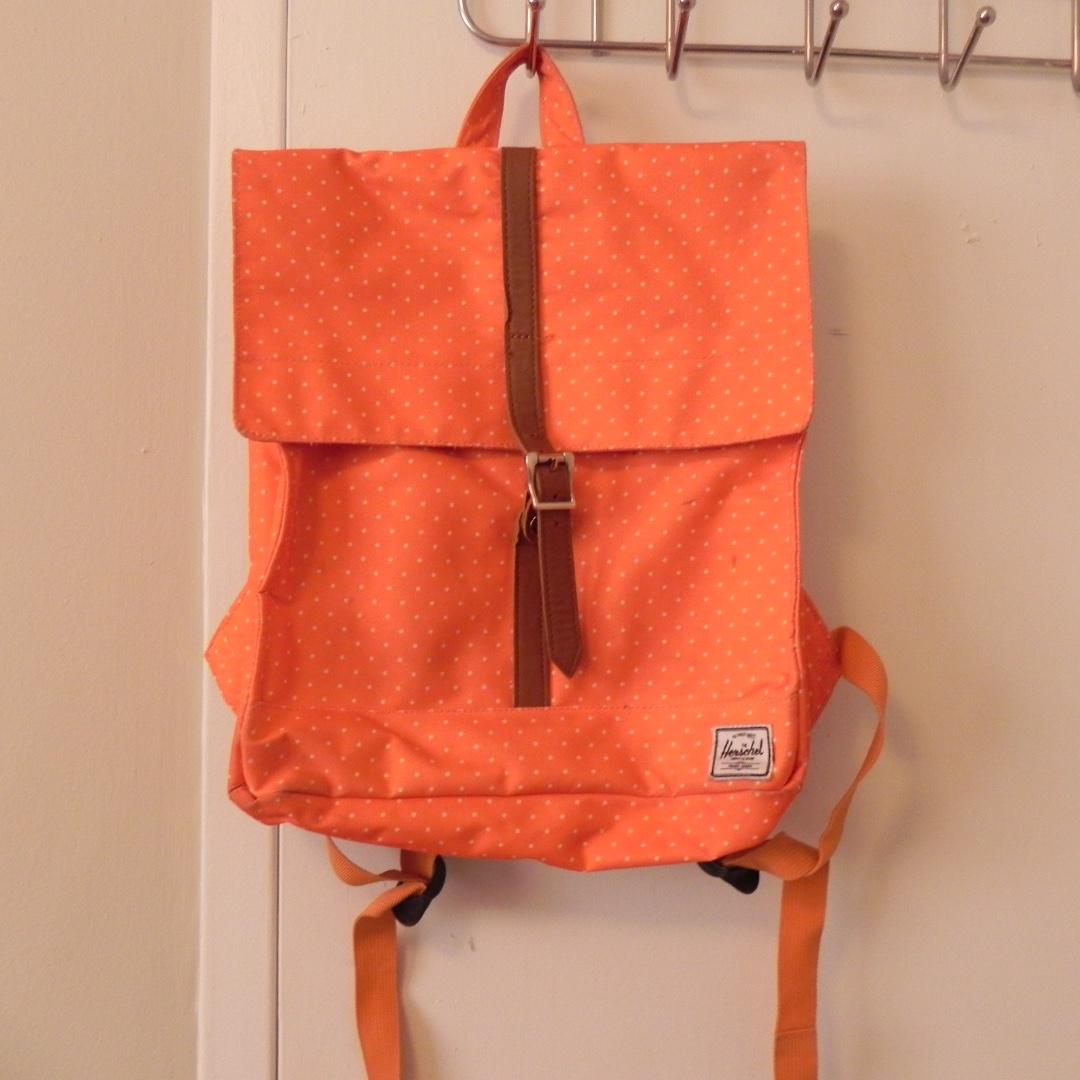 herschel back pack orange