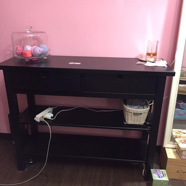 IKEA黑色二抽屜餐櫃(限台中自取)