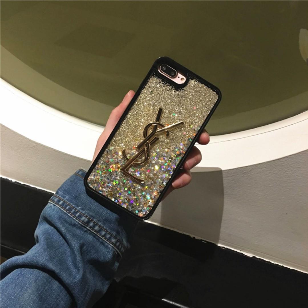 【手機殼】大牌星辰流動閃粉流沙iphone手機殼,6、6s、7、7plus