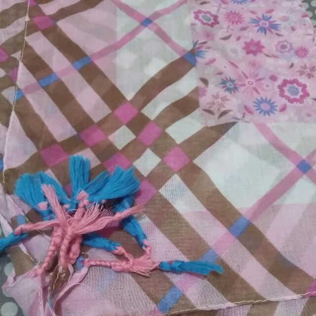 Jilbab Square Pink Rumbay