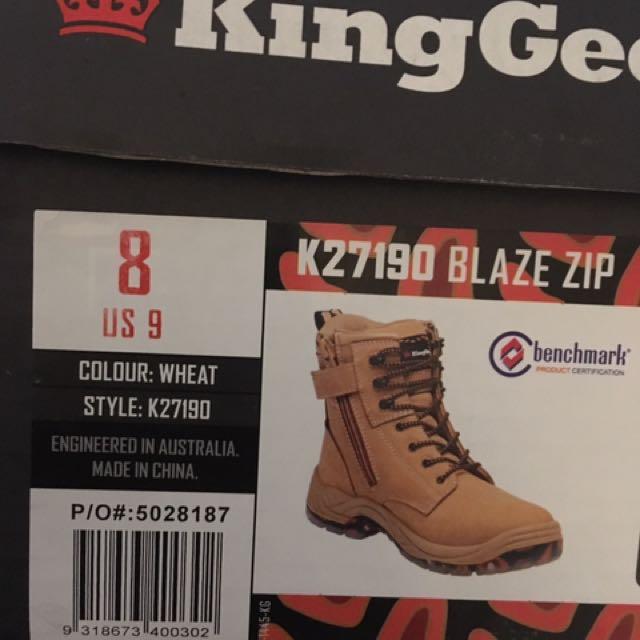 KingGee Blaze Zip Boots