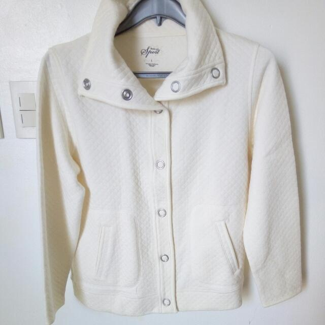 Large Style&Co Cotton Poly Jacket