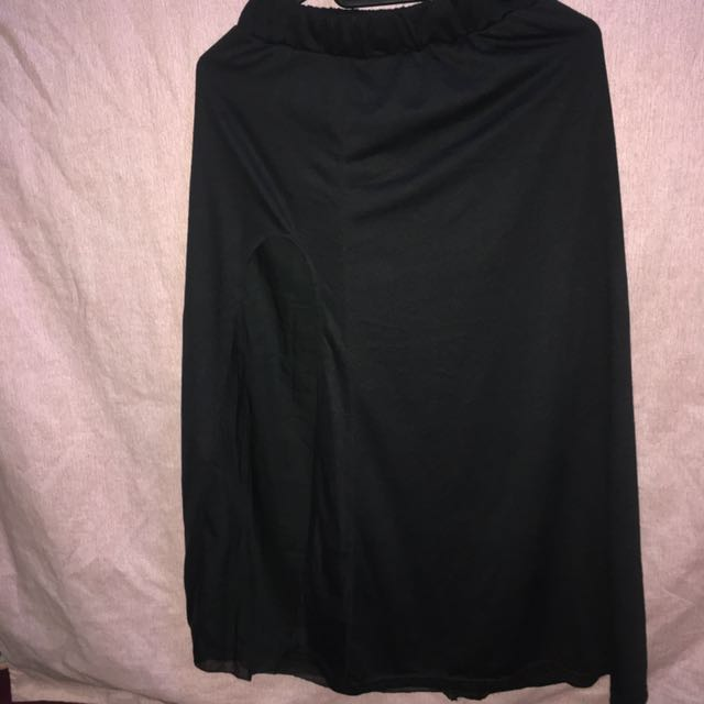 Long Skirt with Slit
