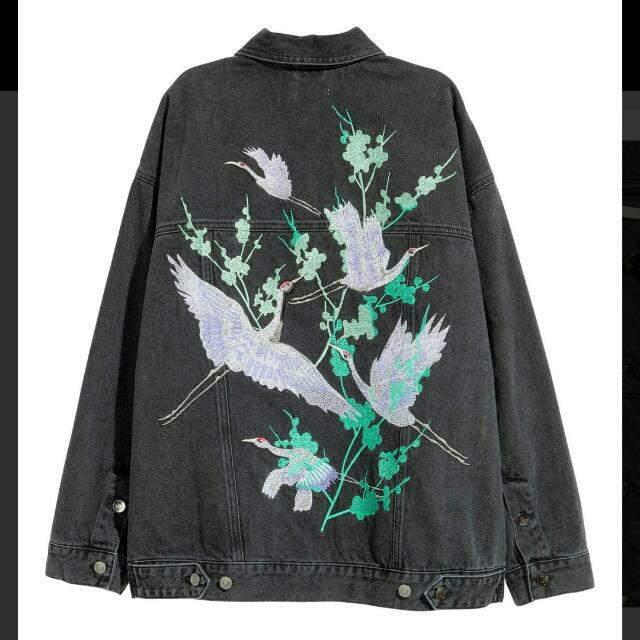 LOOKING FOR: H&M Denim Embroidered Jacket