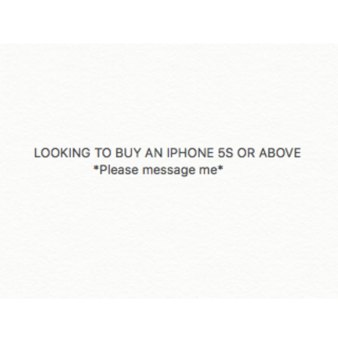 Looking to buy iPhone