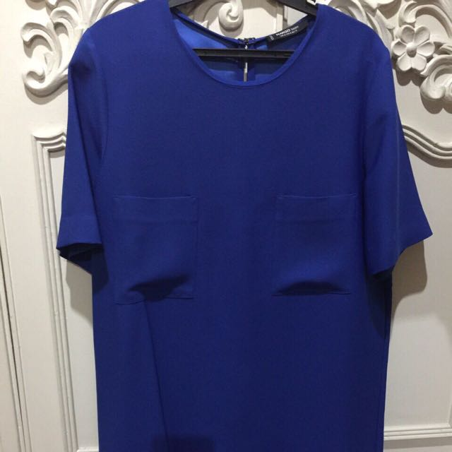 Mango Blue Shirt Dress