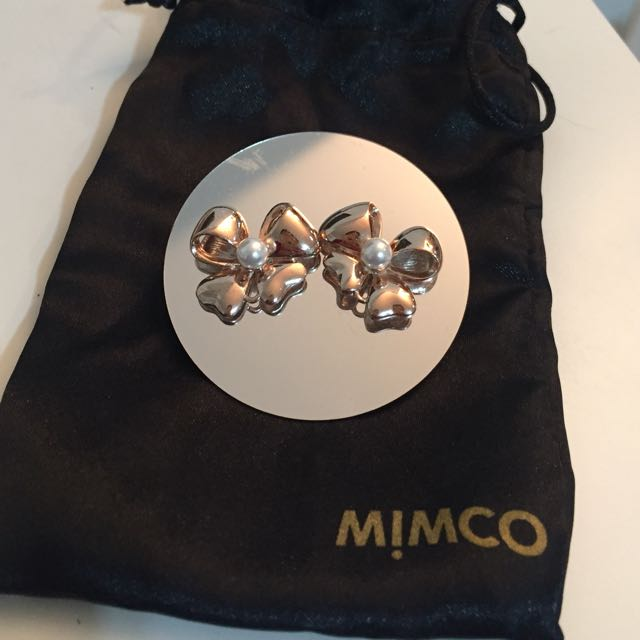 Mimco Rose Gold Bow Earrings