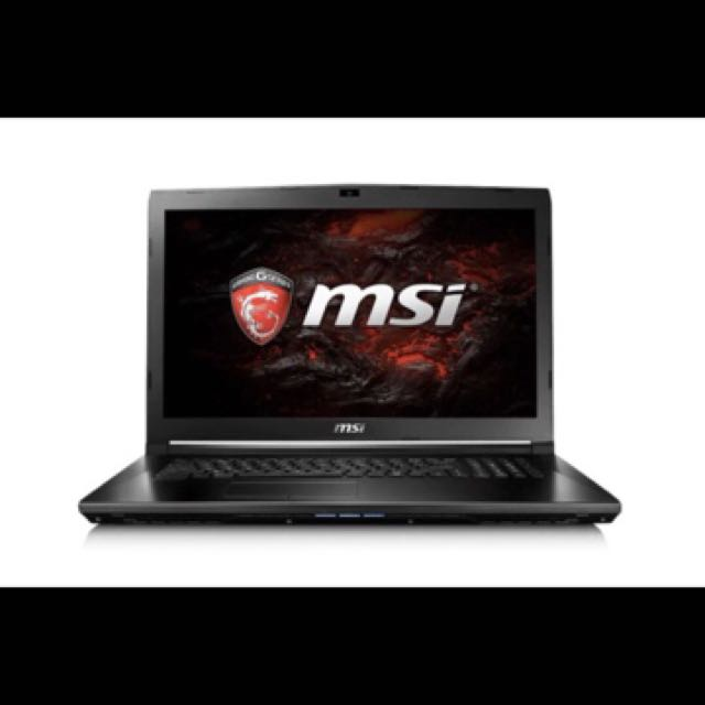 "MSI 17.3"" Core i7-7700HQ 8GB RAM 1TB HDD GTX 1050 2GB Full HD Gaming Notebook."