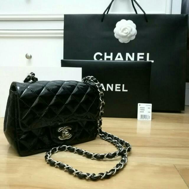MUST Go!! Chanel Mini Flap Black Patent Leather