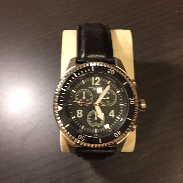 Nautical Chronograph leather Watch