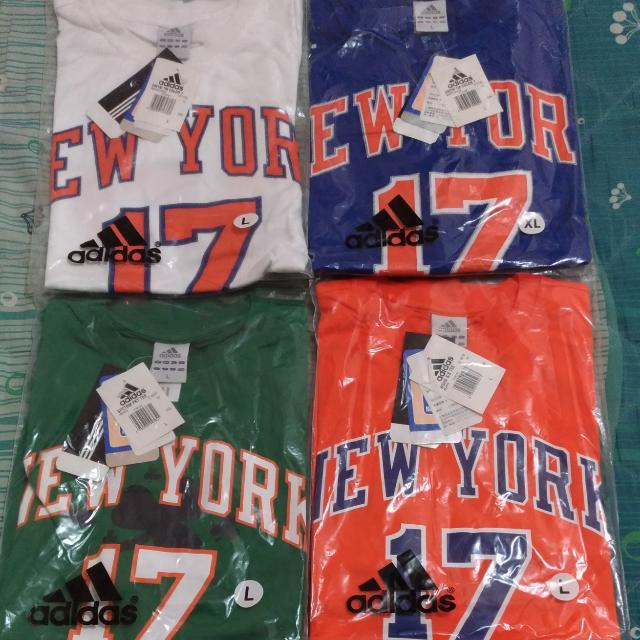 NBA  Jeremy Lin  林書豪 T恤 尼克 Knicks ADIDAS 皆為 L號 正品 全新含吊牌