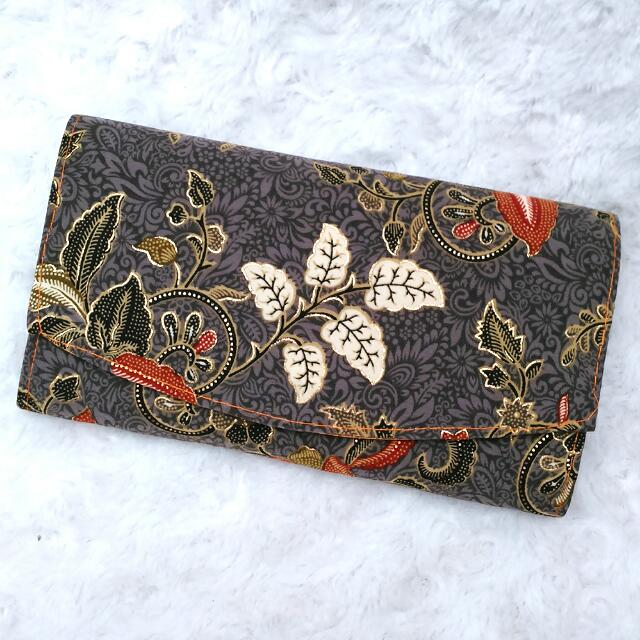 New Grey Batik Clutch
