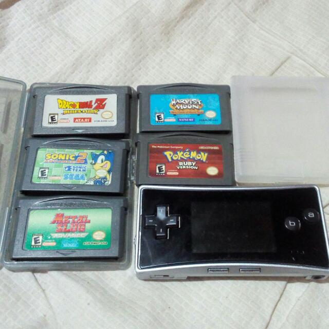 Nintendo Gameboy Micro With Games