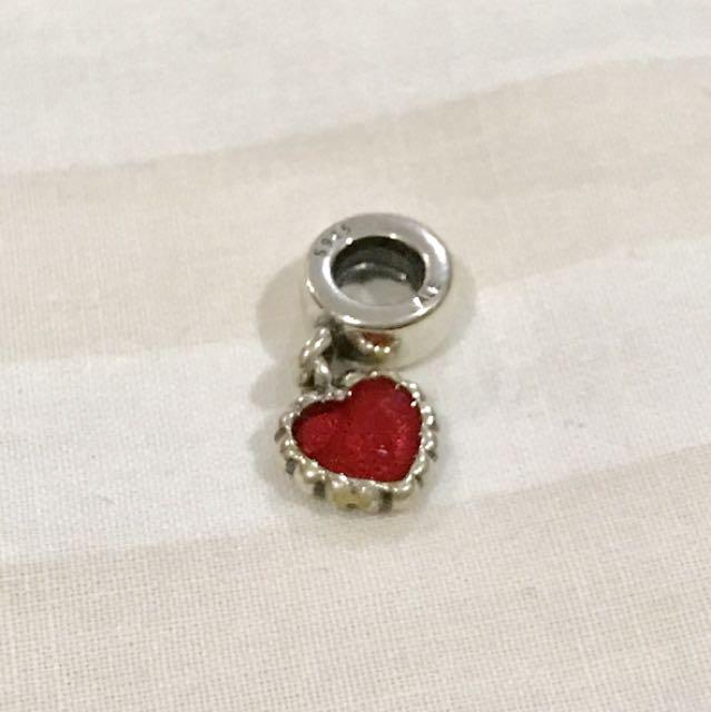 Pandora Enamel Heart pendant charm