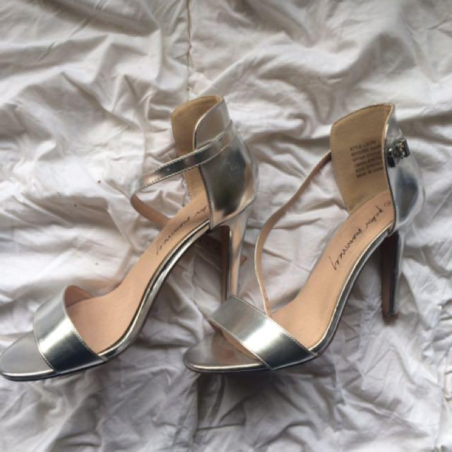 Peter Morrissey Silver Strap Heels