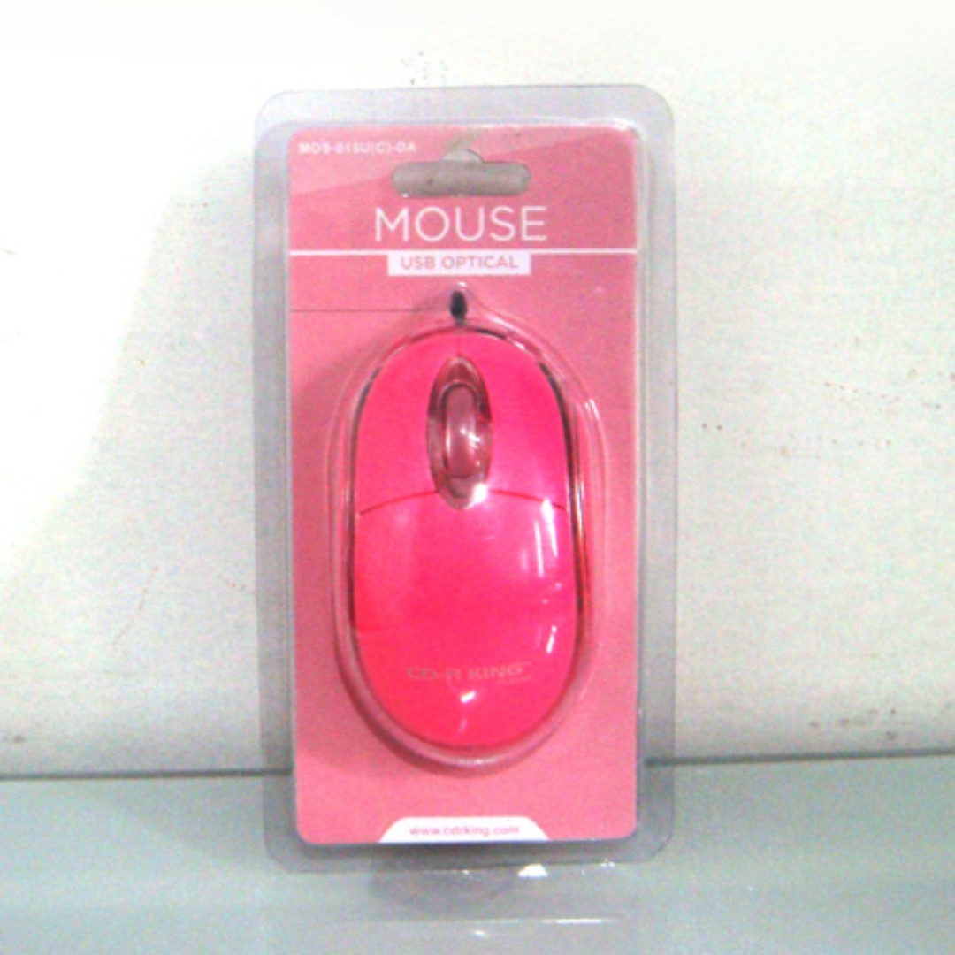 Pink Computer Mouse