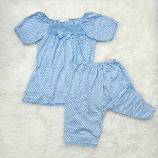 Polka Pajamas Baby Blue
