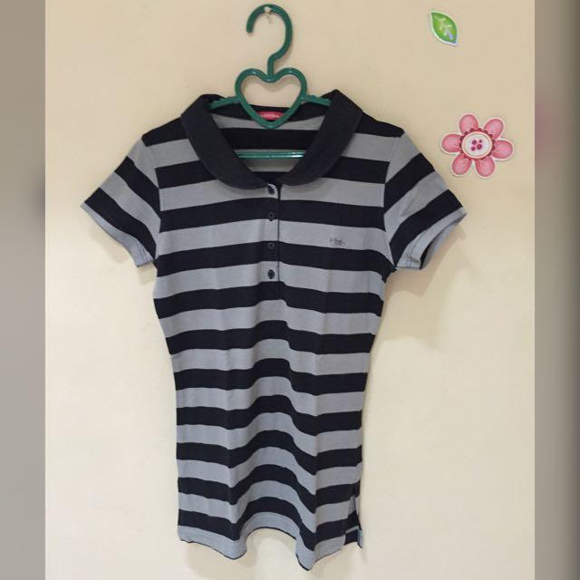 Preloved Stripes Polo Shirt By Hassenda