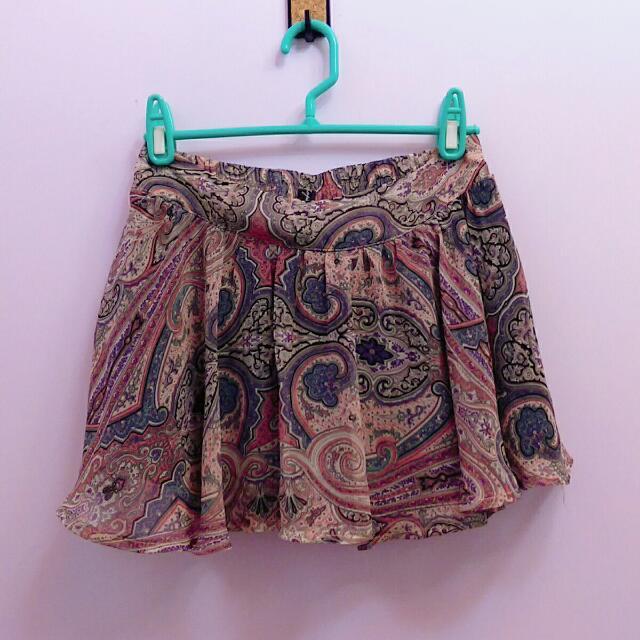 Queen Shop變形蟲圖騰褲裙