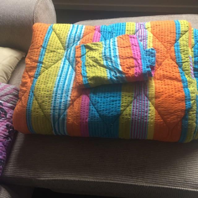 Quilt Single set With Pillow Case