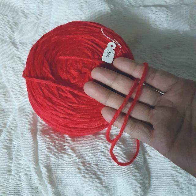 Big Ball of Soft, Red Acrylic Yarn