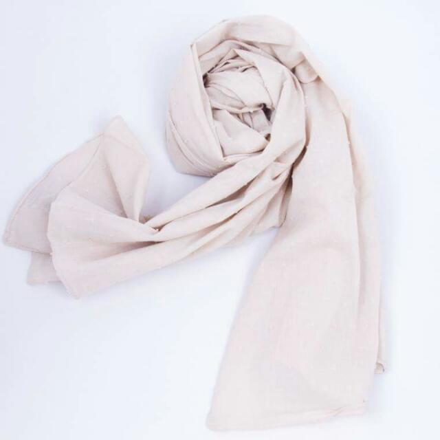 scarf in soft cream